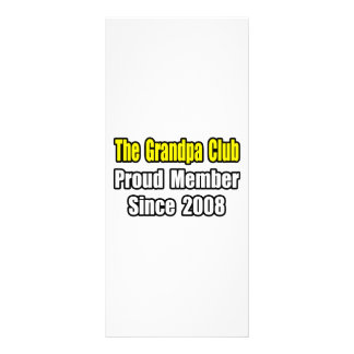 Grandpa Club Since 2008 Rack Card