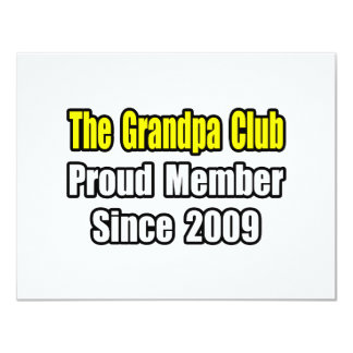 Grandpa Club...Since 2009 11 Cm X 14 Cm Invitation Card