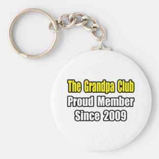 Grandpa Club Since 2009 Keychain