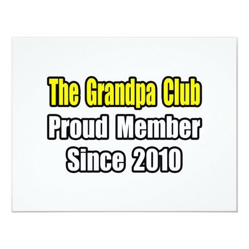 Grandpa Club...Since 2010 Personalized Invitation