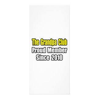 Grandpa Club Since 2010 Custom Rack Card
