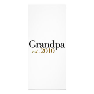 Grandpa Est 2010 Custom Rack Cards