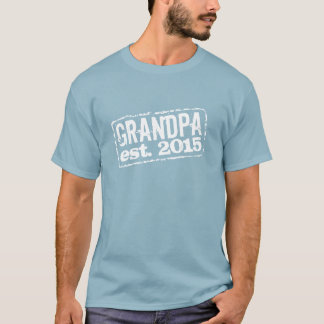 Grandpa established 2015 t shirts | Customizable