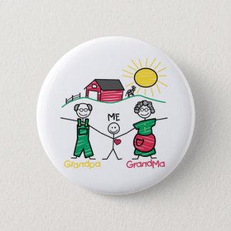 Grandpa Grandma & Me 6 Cm Round Badge