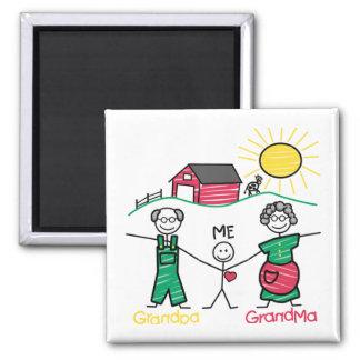 Grandpa Grandma & Me Magnet
