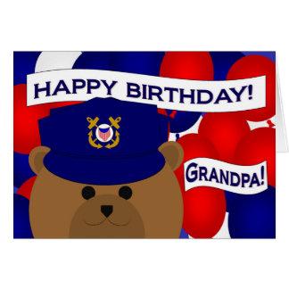 Grandpa - Happy Birthday Coast Guardsman! Greeting Card