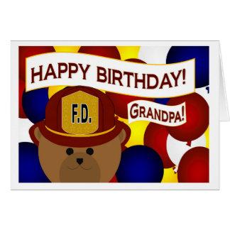 Grandpa - Happy Birthday Firefighter Hero! Greeting Card