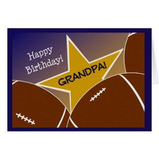 Grandpa - Happy Birthday Football Loving Grandpa Greeting Card