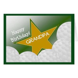 Grandpa - Happy Birthday Golf Loving Grandfather! Greeting Card