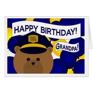 Grandpa - Happy Birthday Police Hero! Greeting Card