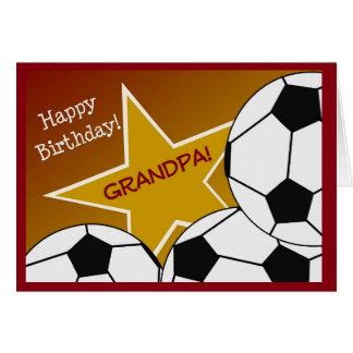 Grandpa - Happy Birthday Soccer Loving Grandpa! Greeting Card