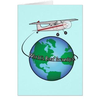 Grandpa Happy Birthday with Airplane Card