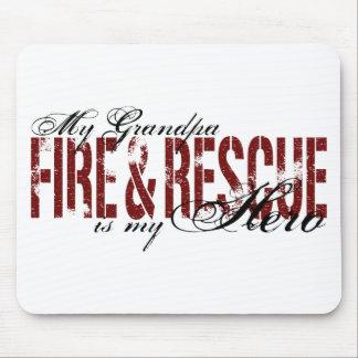 Grandpa Hero - Fire & Rescue Mouse Pad