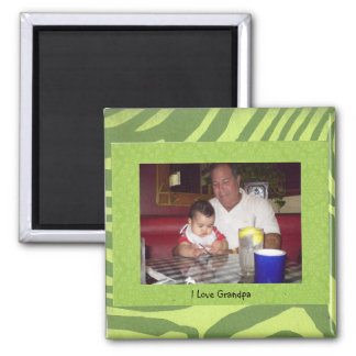 "Grandpa: ""I Love Grandpa"" Photo Frame Magnet"