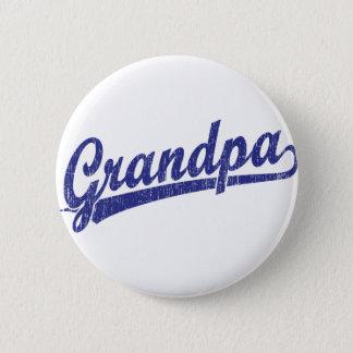 Grandpa in blue 6 cm round badge