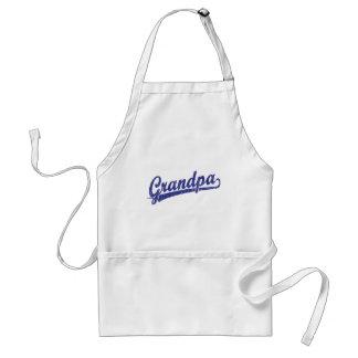 Grandpa in blue standard apron