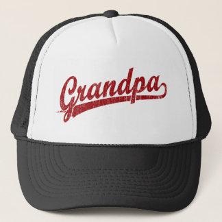 Grandpa in red trucker hat