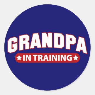Grandpa In Training Classic Round Sticker