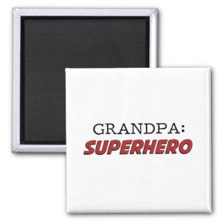 Grandpa is a Superhero Grandfather Square Magnet