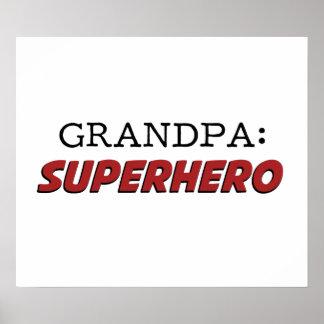 Grandpa is a Superhero Grandfather Poster