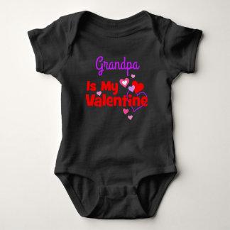 Grandpa Is My Valentine Baby Bodysuit