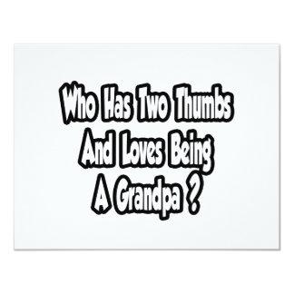 Grandpa Joke...Two Thumbs...This Guy 11 Cm X 14 Cm Invitation Card