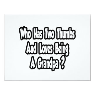 Grandpa Joke...Two Thumbs...This Guy Personalized Invitations