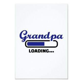 Grandpa loading 9 cm x 13 cm invitation card