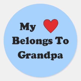 Grandpa Love Round Sticker