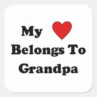 Grandpa Love Square Sticker