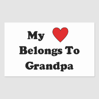 Grandpa Love Rectangular Sticker