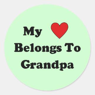 Grandpa Love Stickers
