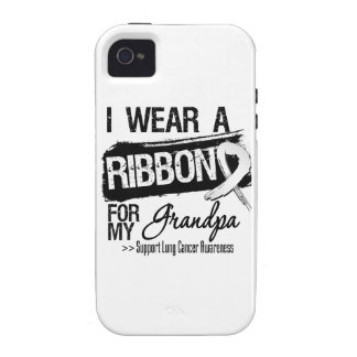 Grandpa Lung Cancer Ribbon iPhone 4 Covers