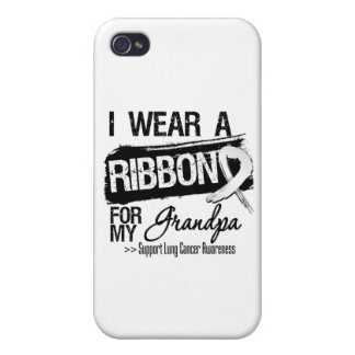 Grandpa Lung Cancer Ribbon iPhone 4 Cases