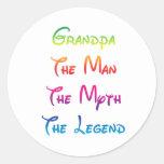 Grandpa Man Myth Legend Classic Round Sticker