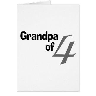 Grandpa Of 4 Card