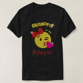 Grandpa of the Birthday Girl Emoji Birthday Party T-Shirt