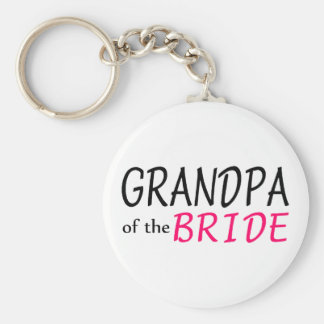 Grandpa Of The Bride Basic Round Button Key Ring