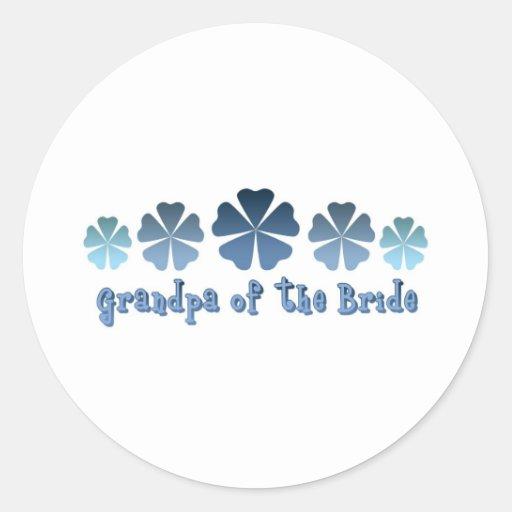 Grandpa of the Bride Round Sticker