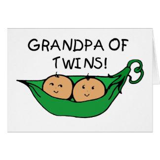 Grandpa of Twins Pod Card