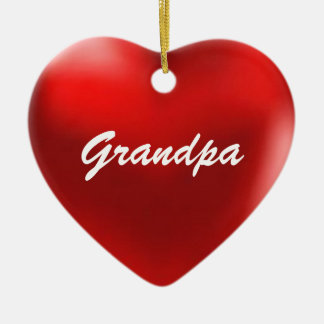 Grandpa Ornament Heart