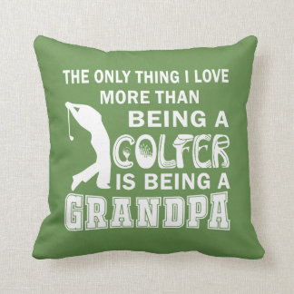 Grandpa Over Golf Cushion