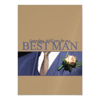 Grandpa  Please be best man - invitation Magnetic Invitations