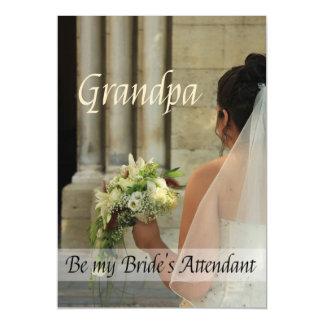 Grandpa  Please be bride's attendant - invitation Magnetic Invitations