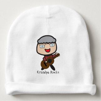 Grandpa Rocks Customizable Baby Beanie
