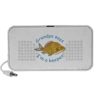 GRANDPA SAYS IM A KEEPER iPod SPEAKERS
