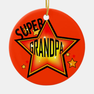 Grandpa Super Star Grandfather Christmas Ornament