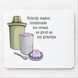 Grandpa the ice cream maker mousepads