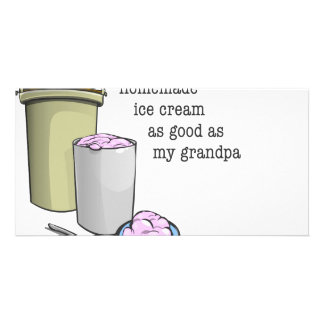Grandpa the ice cream maker photo card template