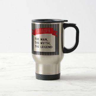 Grandpa – The Man, The Myth, The Legend Stainless Steel Travel Mug